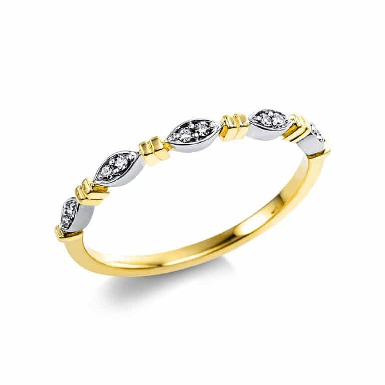 14 kt sárga arany több köves gyűrű 10 gyémánttal 1V561G454-1