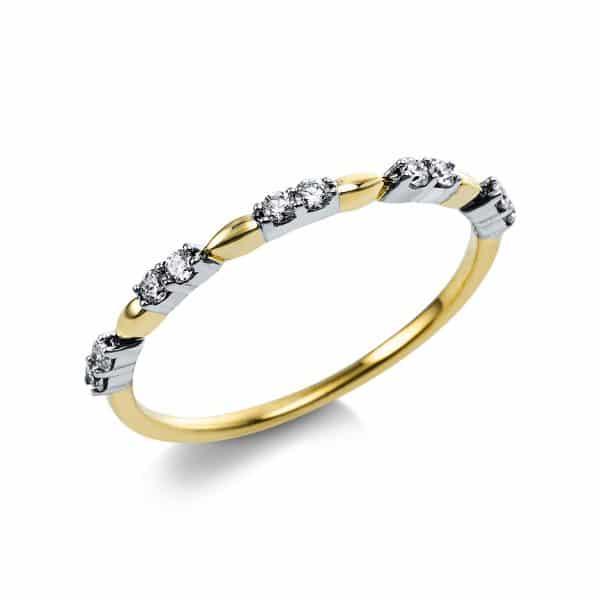 14 kt sárga arany több köves gyűrű 10 gyémánttal 1V562G454-1
