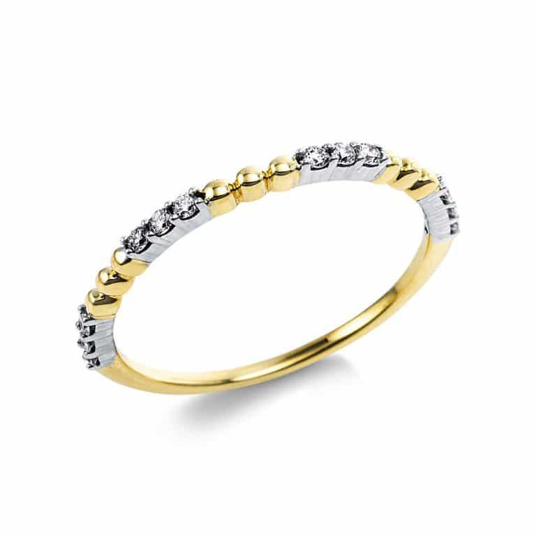 14 kt sárga arany több köves gyűrű 12 gyémánttal 1V638G454-1