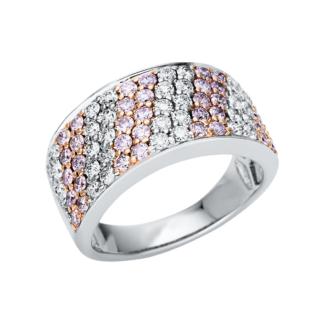 14 kt  több köves gyűrű 68 gyémánttal 1U383WR454-1