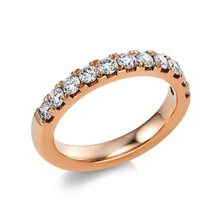 14 kt vörös arany félig köves eternity 11 gyémánttal 1V553R454-1