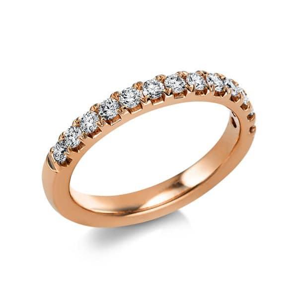14 kt vörös arany félig köves eternity 13 gyémánttal 1V552R454-1