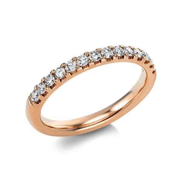 14 kt vörös arany félig köves eternity 14 gyémánttal 1V551R454-1