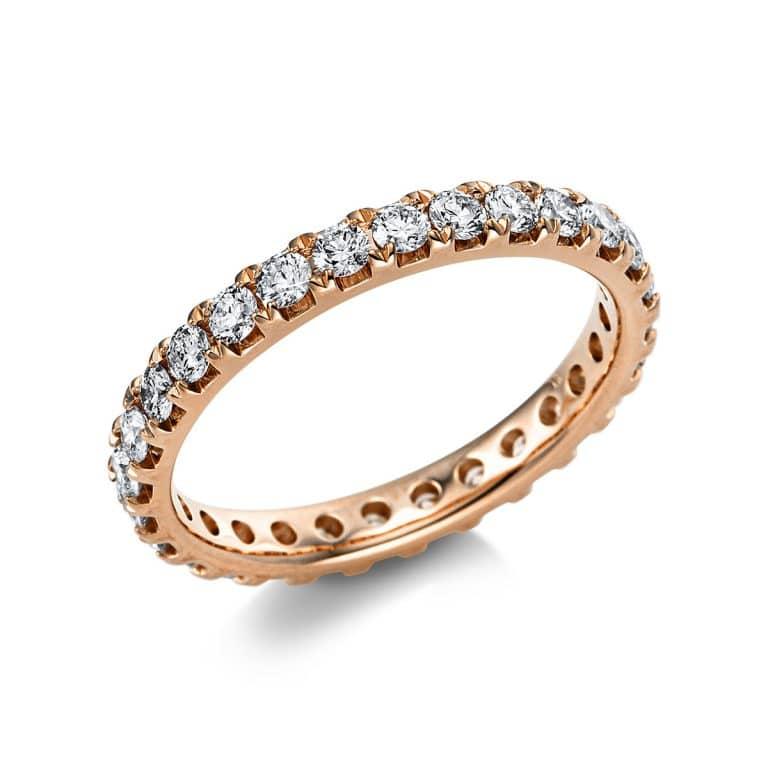 14 kt vörös arany körbe köves eternity 28 gyémánttal 1V558R454-1