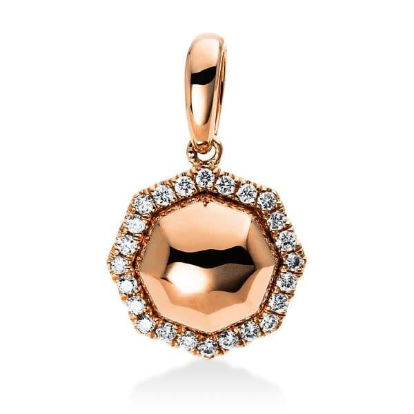 14 kt vörös arany medál 24 gyémánttal 3D235R4-1