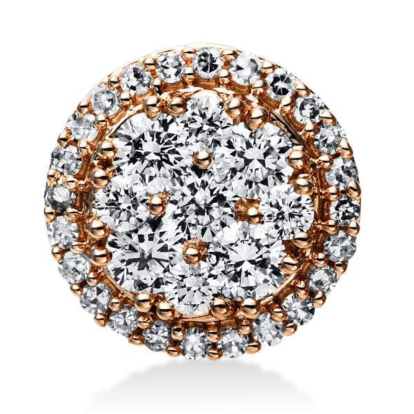 14 kt vörös arany medál 38 gyémánttal 3E030R4-1