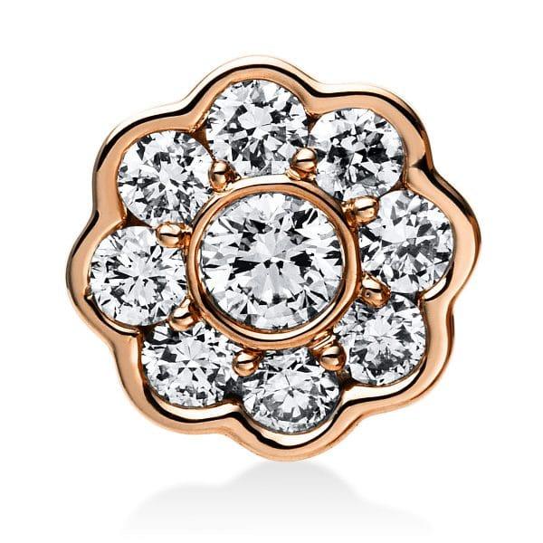 14 kt vörös arany medál 9 gyémánttal 3E028R4-1
