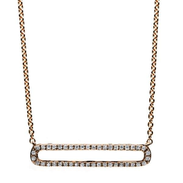 14 kt vörös arany nyaklánc 44 gyémánttal 4B028R4-1