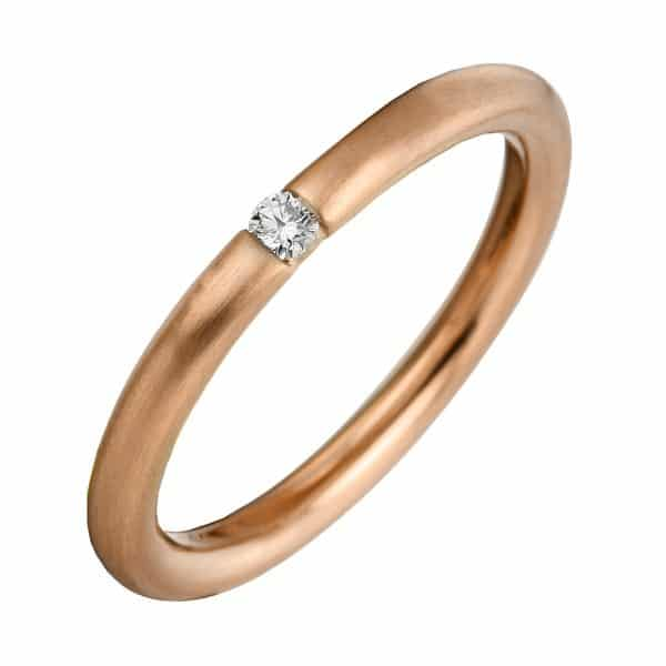 14 kt vörös arany szoliter 1 gyémánttal 1A041R455-1