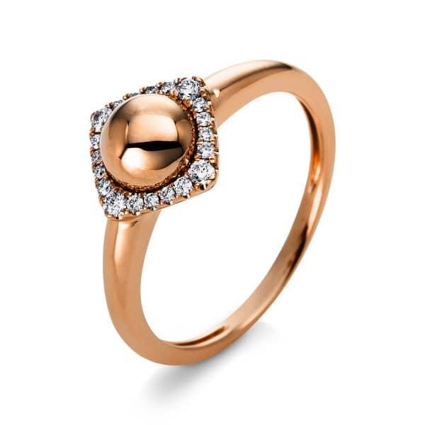 14 kt vörös arany több köves gyűrű 20 gyémánttal 1Q813R454-1