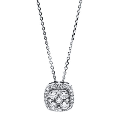 14 kt white gold necklace with 33 diamonds 4F583W4-1