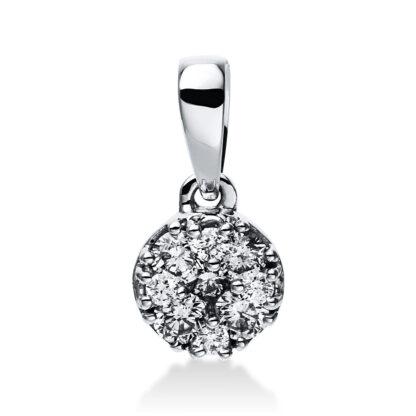 14 kt white gold pendant with 10 diamonds 3E047W4-1
