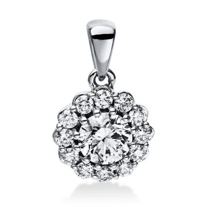 14 kt white gold pendant with 13 diamonds 3E042W4-1
