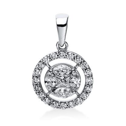 14 kt white gold pendant with 25 diamonds 3E046W4-1