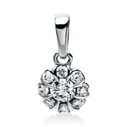 14 kt white gold pendant with 9 diamonds 3E027W4-1