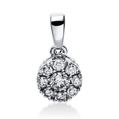 14 kt white gold pendant with 9 diamonds 3E048W4-1