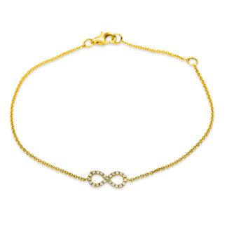 14 kt yellow gold bracelet with 23 diamonds 5B895G4-1