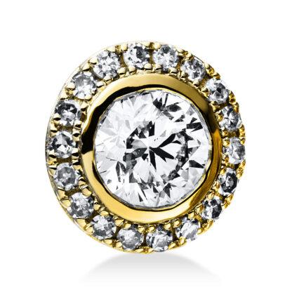 14 kt yellow gold pendant with 19 diamonds 3E036G4-1