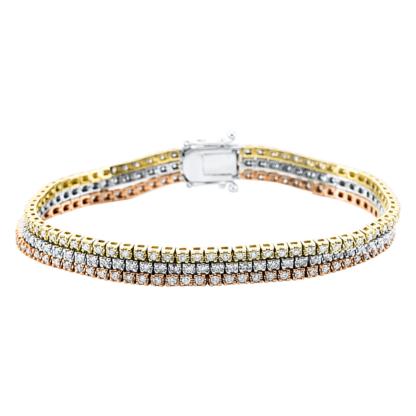 18 kt  bracelet with 222 diamonds 5C046T8-2