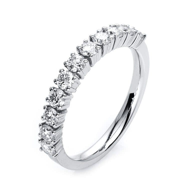 18 kt fehérarany félig köves eternity 11 gyémánttal 1G518W854-1