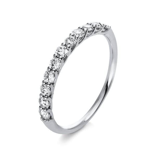 18 kt fehérarany félig köves eternity 11 gyémánttal 1Q762W854-1