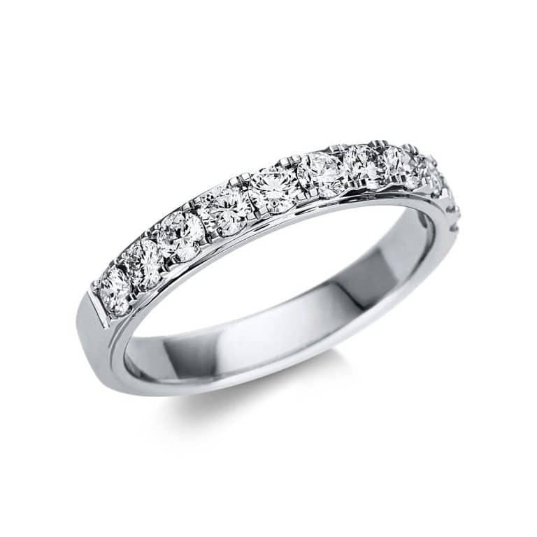 18 kt fehérarany félig köves eternity 11 gyémánttal 1U247W855-1