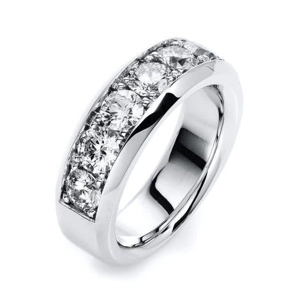 18 kt fehérarany félig köves eternity 7 gyémánttal 1H342W854-1