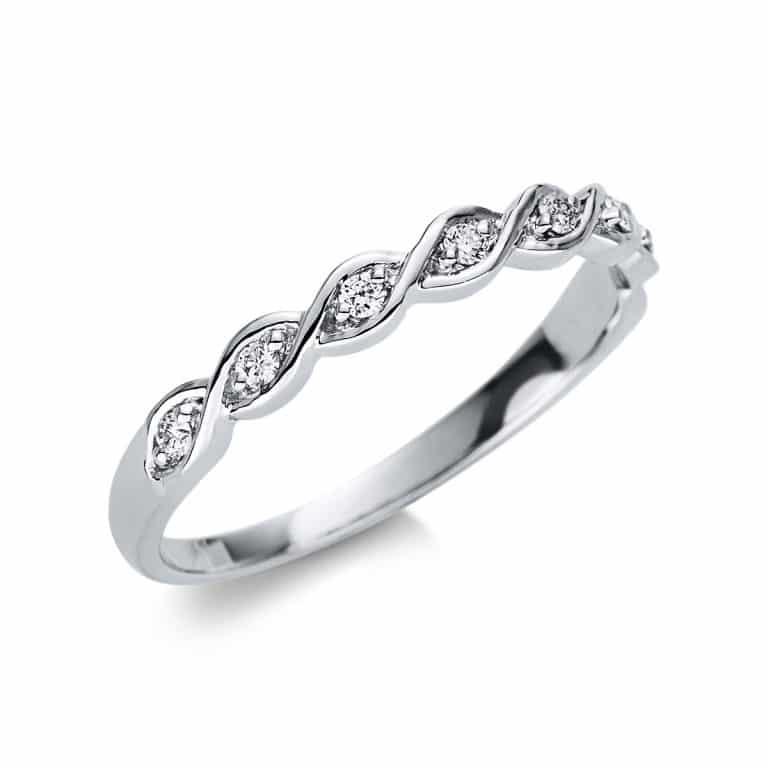 18 kt fehérarany félig köves eternity 8 gyémánttal 1U505W854-2