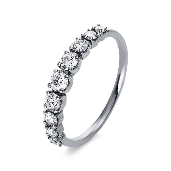 18 kt fehérarany félig köves eternity 9 gyémánttal 1R390W853-1