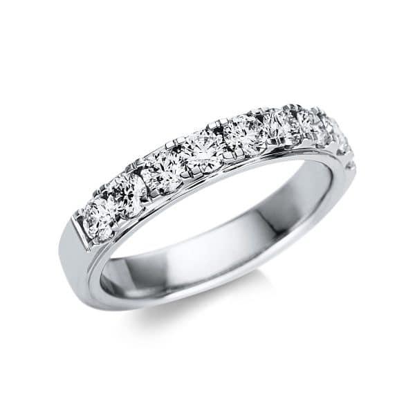 18 kt fehérarany félig köves eternity 9 gyémánttal 1U248W855-1