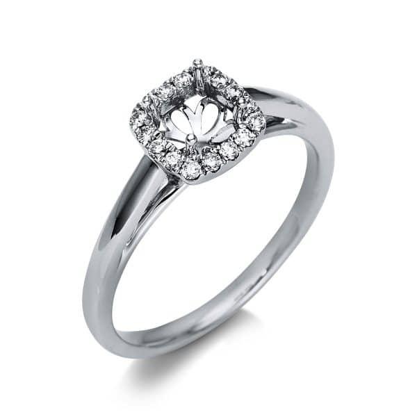 18 kt fehérarany foglalat 16 gyémánttal 1T167W854-1