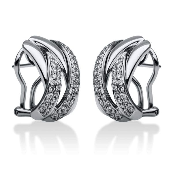 18 kt fehérarany fülbevaló 104 gyémánttal 2G049W8-2