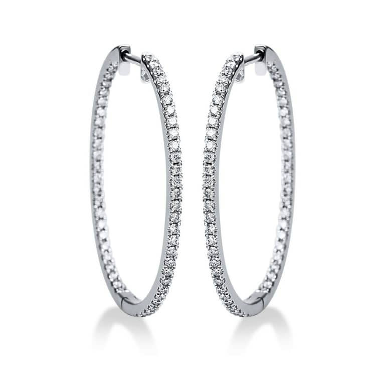 18 kt fehérarany fülbevaló 106 gyémánttal 2G782W8-1