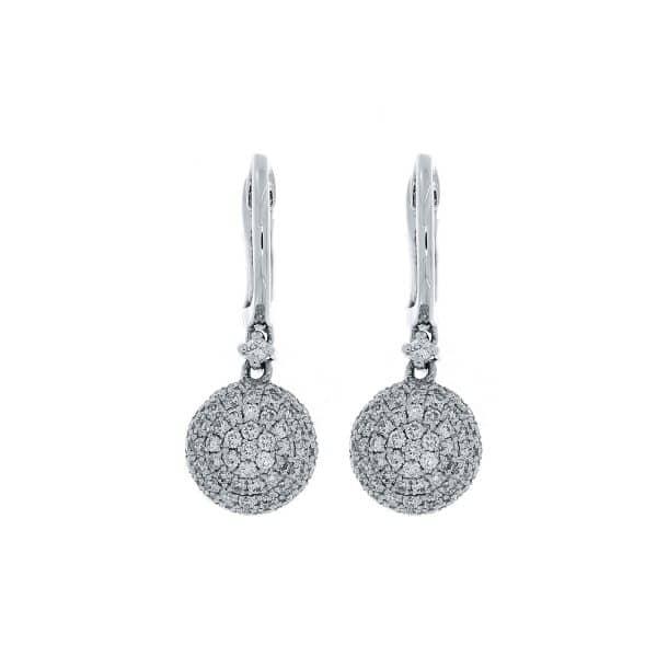 18 kt fehérarany fülbevaló 114 gyémánttal 2A338W8-2