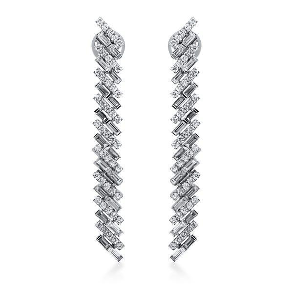 18 kt fehérarany fülbevaló 126 gyémánttal 2H079W8-1