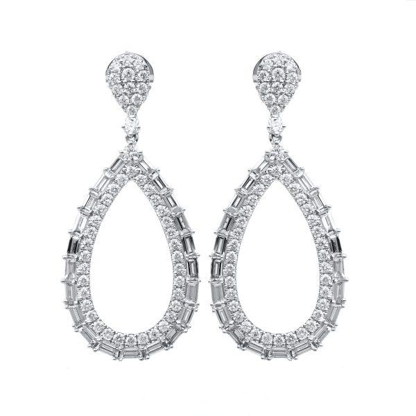 18 kt fehérarany fülbevaló 138 gyémánttal 2D762W8-1
