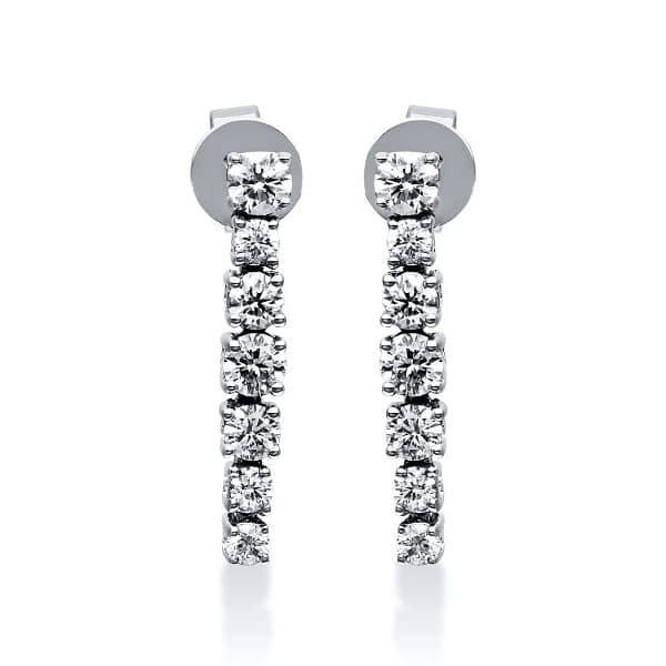 18 kt fehérarany fülbevaló 14 gyémánttal 2E014W8-2