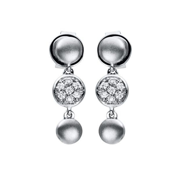 18 kt fehérarany fülbevaló 14 gyémánttal 2F234W8-1