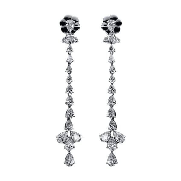 18 kt fehérarany fülbevaló 32 gyémánttal 2G473W8-1