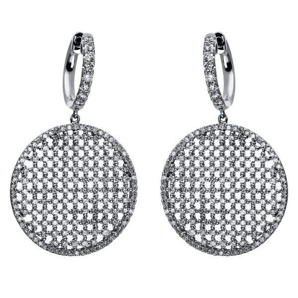 18 kt fehérarany fülbevaló 328 gyémánttal 2C713W8-1