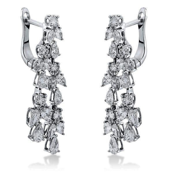 18 kt fehérarany fülbevaló 40 gyémánttal 2I122W8-1
