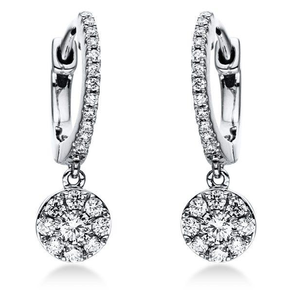 18 kt fehérarany fülbevaló 42 gyémánttal 2J377W8-1