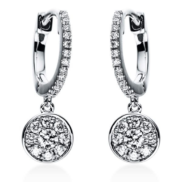 18 kt fehérarany fülbevaló 42 gyémánttal 2J378W8-1
