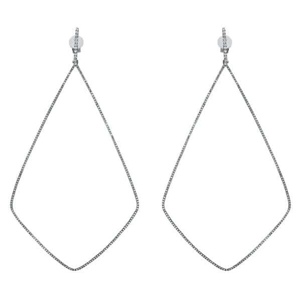 18 kt fehérarany fülbevaló 452 gyémánttal 2D130W8-3
