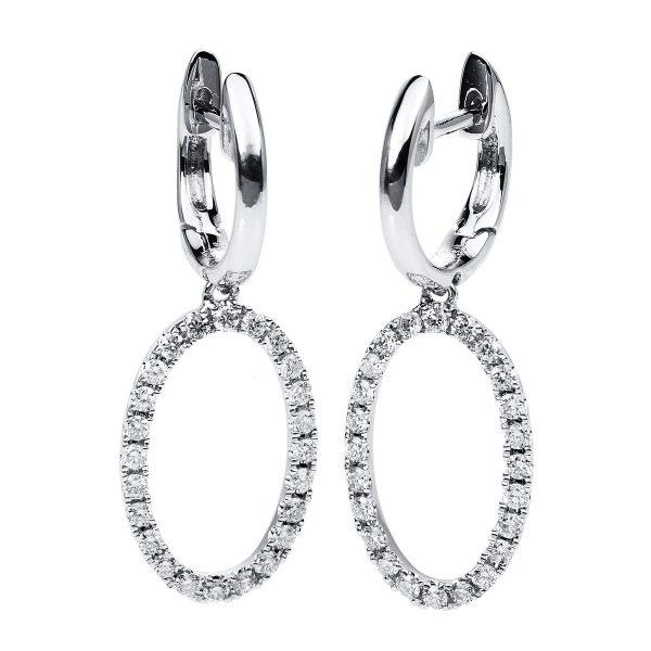 18 kt fehérarany fülbevaló 48 gyémánttal 2C109W8-1