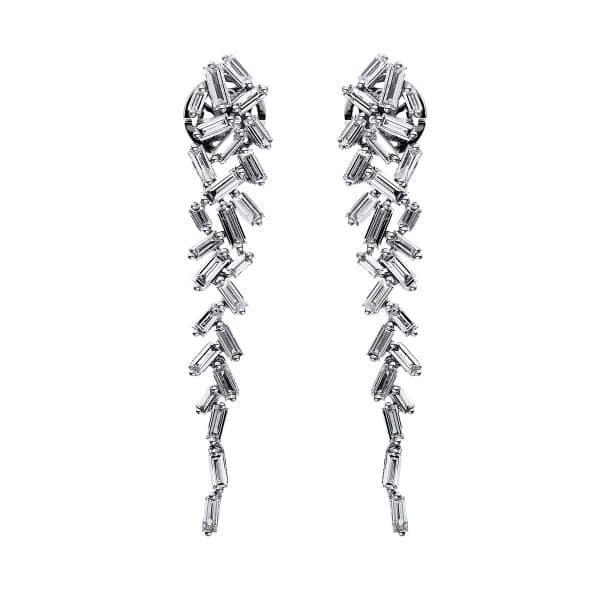 18 kt fehérarany fülbevaló 50 gyémánttal 2H080W8-1