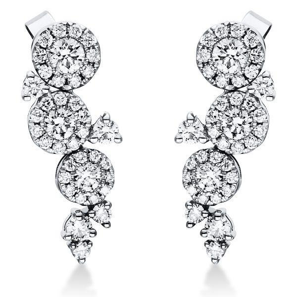 18 kt fehérarany fülbevaló 76 gyémánttal 2I994W8-1