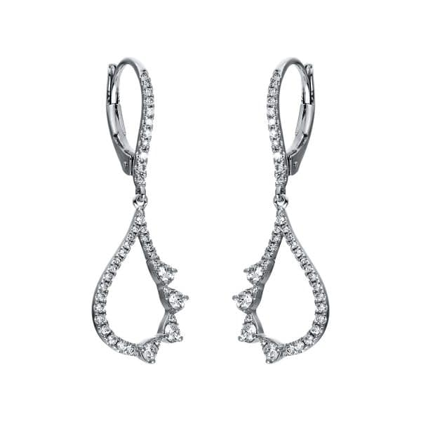 18 kt fehérarany fülbevaló 78 gyémánttal 2G615W8-1