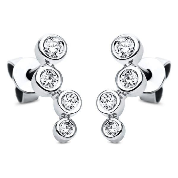 18 kt fehérarany fülbevaló 8 gyémánttal 2H810W8-1
