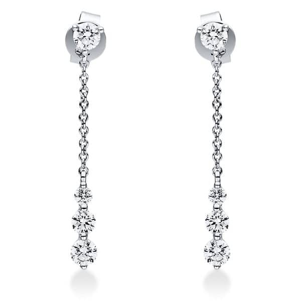 18 kt fehérarany fülbevaló 8 gyémánttal 2J032W8-1